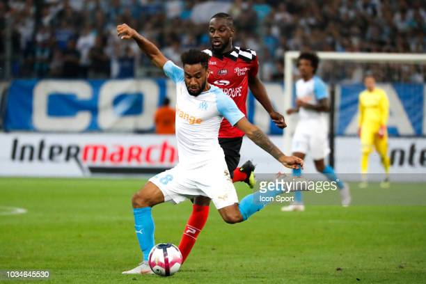 Jordan Amavi of Marseille during the French Ligue 1 match between Marseille and Guingamp at Stade Velodrome on September 16 2018 in Marseille France
