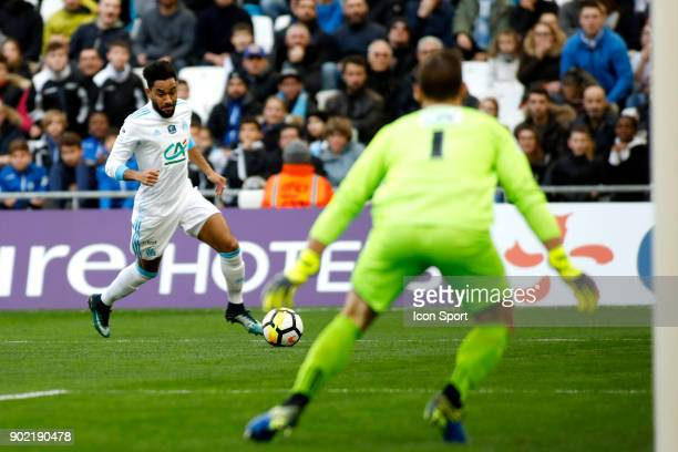 Jordan Amavi of Marseille during the french National Cup match between Marseille and Valenciennes on January 7 2018 in Marseille France