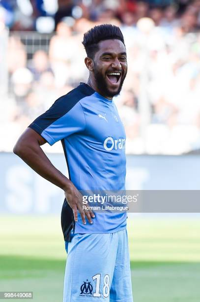 Jordan Amavi of Marseille during the Friendly match between Marseille and Saint Etienne on July 13 2018 in ClermontFerrand France