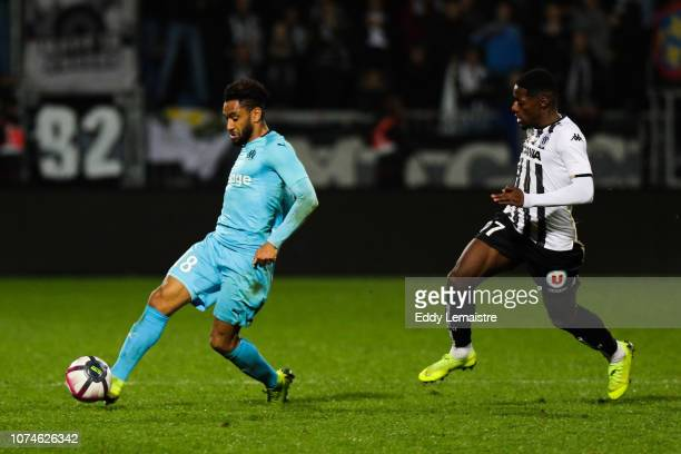 Jordan Amavi of Marseille during the Ligue 1 match between Angers and Marseille at Stade Jean Bouin on December 22 2018 in Angers France