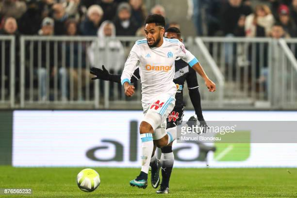 Jordan Amavi of Marseille during the Ligue 1 match between FC Girondins de Bordeaux and Olympique Marseille at Stade Matmut Atlantique on November 19...