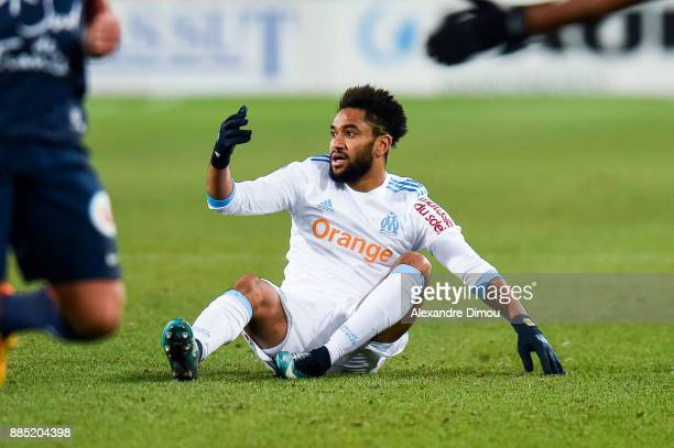 Jordan Amavi of Marseille during the Ligue 1 match between Montpellier Herault SC and Olympique Marseille at Stade de la Mosson on December 3 2017 in...
