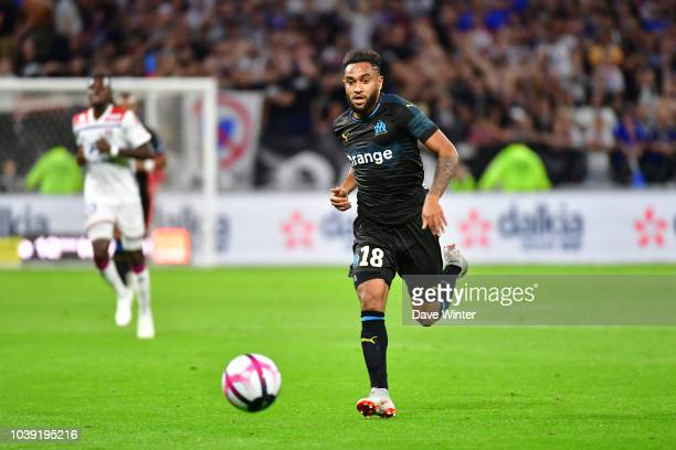 Jordan Amavi of Marseille during the Ligue 1 match between Lyon and Marseille at the Groupama Stadium on September 23 2018 in Lyon France