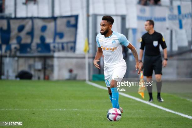 Jordan Amavi of Marseille during the Ligue 1 match between Marseille and Strasbourg at Stade Velodrome on September 26 2018 in Marseille France