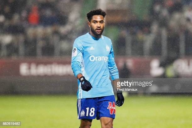 Jordan Amavi of Marseille during the Ligue 1 match between Metz and Olympique Marseille at Stade Saint Symphorien on November 29 2017 in Metz