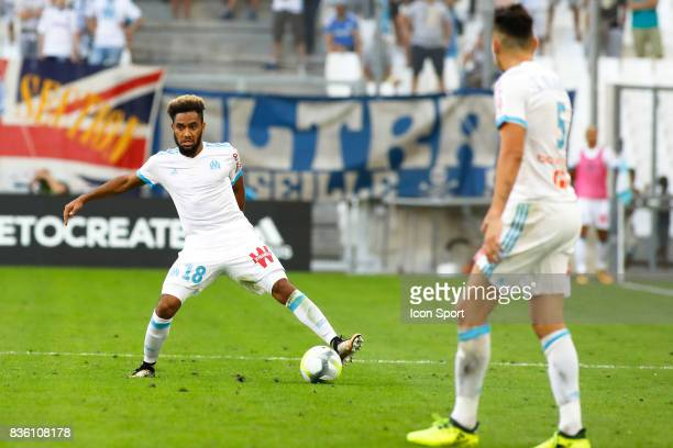 Jordan Amavi of Marseille during the Ligue 1 match between Olympique Marseille and Angers SCO at Stade Velodrome on August 20 2017 in Marseille