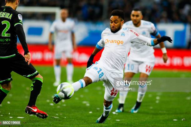 Jordan Amavi of Marseille during the Ligue 1 match between Olympique Marseille and EA Guingamp at Stade Velodrome on November 26 2017 in Marseille