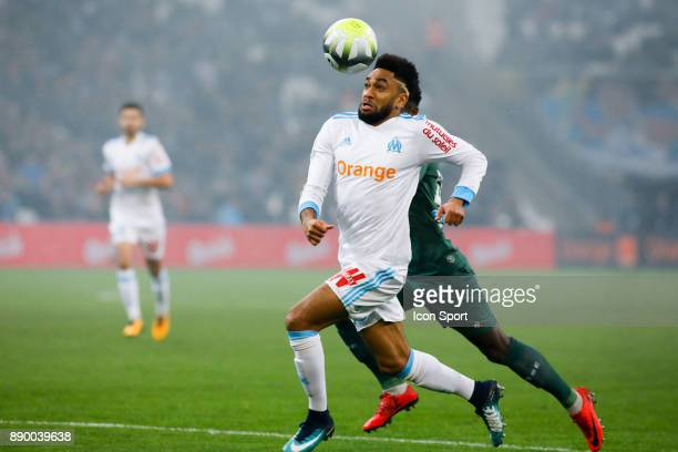 Jordan Amavi of Marseille during the Ligue 1 match between Olympique Marseille and AS SaintEtienne at Stade Velodrome on December 10 2017 in Marseille