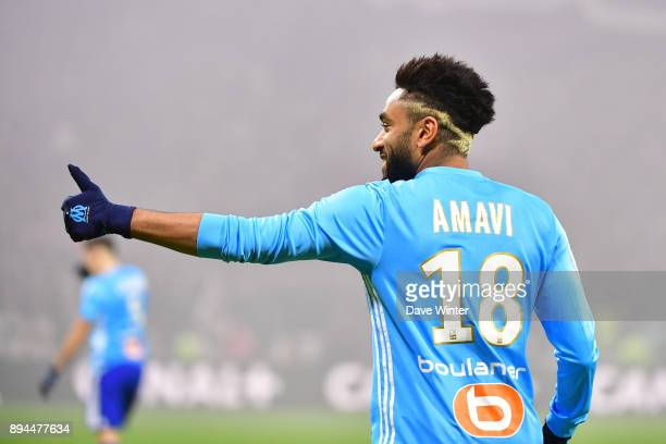 Jordan Amavi of Marseille during the Ligue 1 match between Olympique Lyonnais and Olympique Marseille at Parc Olympique on December 17 2017 in Lyon...