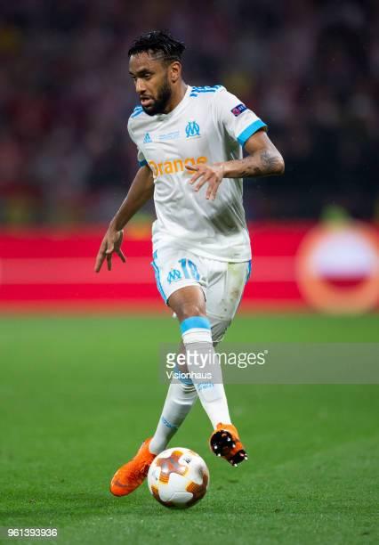 Jordan Amavi of Olympique de Marseille in action during the UEFA Europa League Final between Olympique de Marseille and Club Atletico de Madrid at...