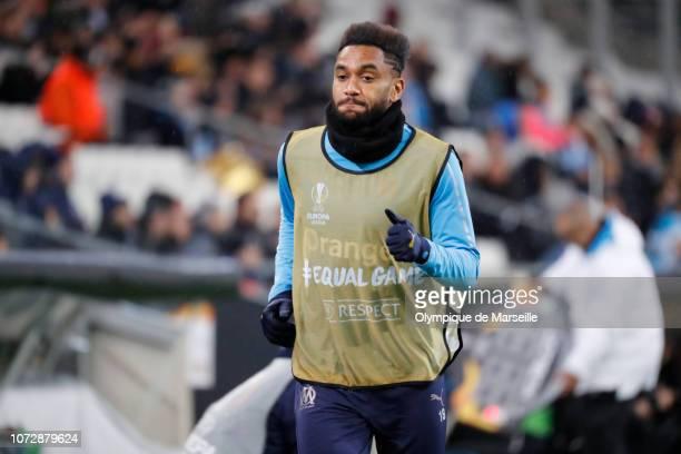 Jordan Amavi of Olympique de Marseille reacts during the UEFA Europa League Group H match between Olympique de Marseille and Apollon Limassol at...