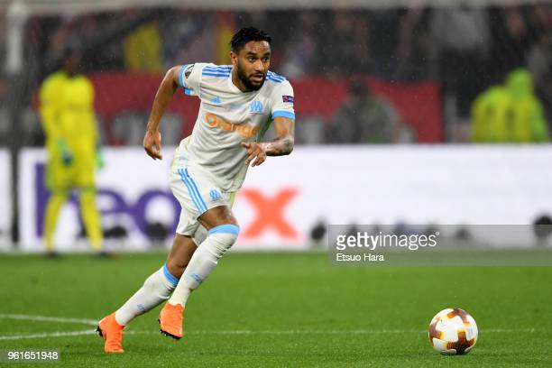Jordan Amavi of Olympique Marseille in action during the UEFA Europa League Final between Olympique de Marseille and Club Atletico de Madrid at Stade...