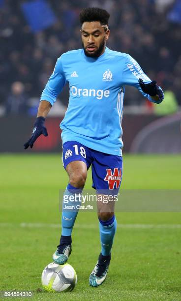 Jordan Amavi of OM during the French Ligue 1 match between Olympique Lyonnais and Olympique de Marseille at Groupama Stadium on December 17 2017 in...