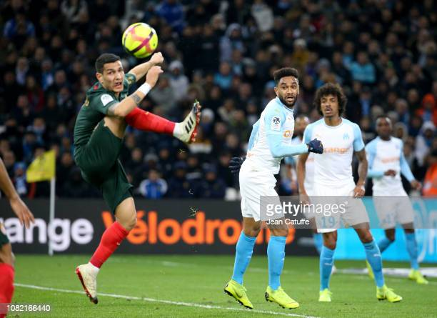 Jordan Amavi Rony Lopes of Monaco during the french Ligue 1 match between Olympique de Marseille and AS Monaco at Stade Velodrome on January 13 2019...