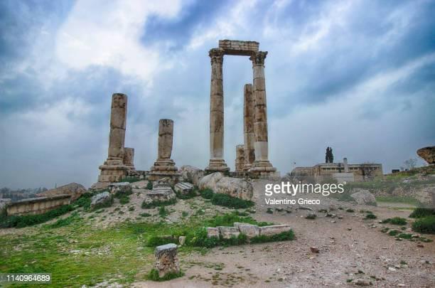 jordan - amman citadel - roman ancient city - antike kultur stock-fotos und bilder
