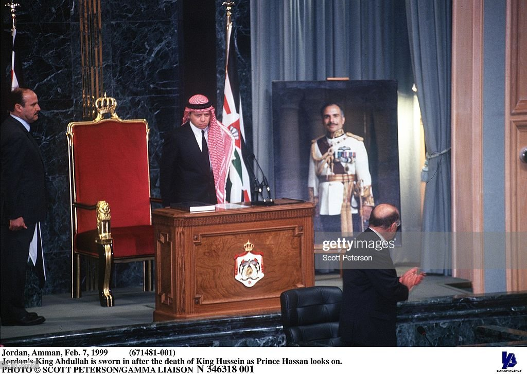 Jordan Amman Feb 7 1999 (671481 001 Jordan's King Abdullah Is Sworn In After The Dea : News Photo