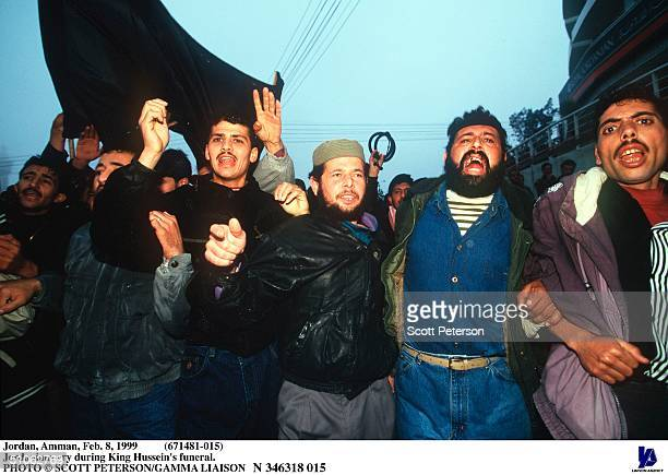 Jordan Amman Feb 8 1999 Jordanians Cry During King Hussein's Funeral