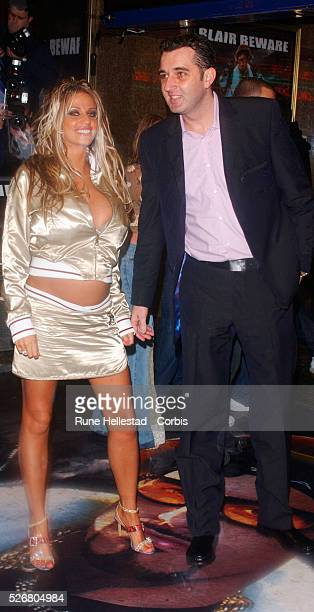 Jordan and a guest arrive at the premiere of the movie 'Ali G Indahouse' in London