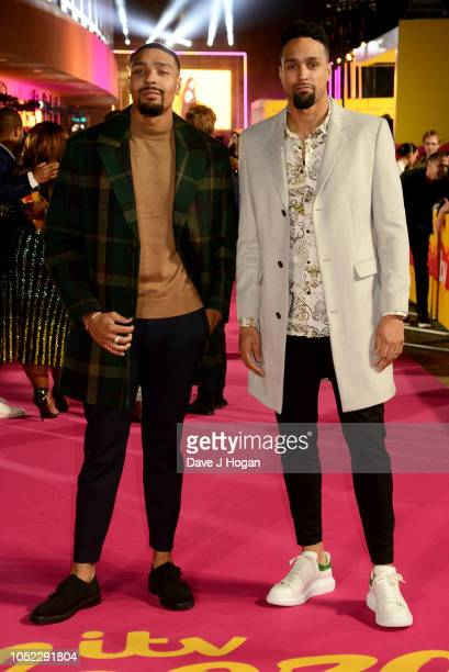 Jordan and Ashley Banjo attend the ITV Palooza held at The Royal Festival Hall on October 16 2018 in London England