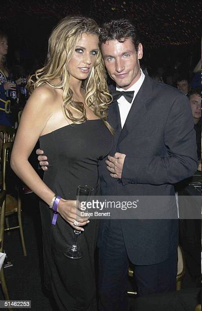 Jordan and Dean Gaffney attend the Cantor Fitzgerald Grand Prix Ball on July 6 2002 in London