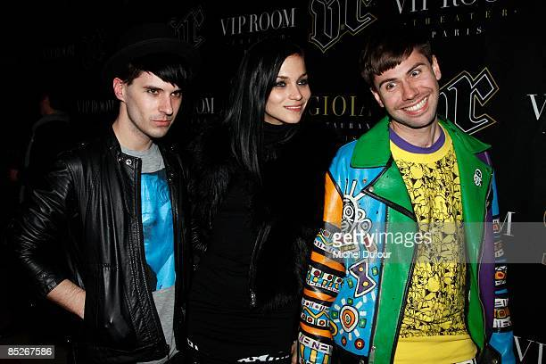 Jordan and Leigh Lezark and a guest attend a party for the new Jade Jagger collection at the VIP Room March 5 2009 in Paris France