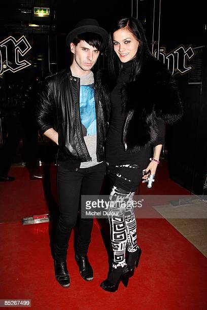 DJ Jordan and Leigh Lezark attend Jade Jagger Hosting Party Unveiling New Collection at Vip Room in Paris