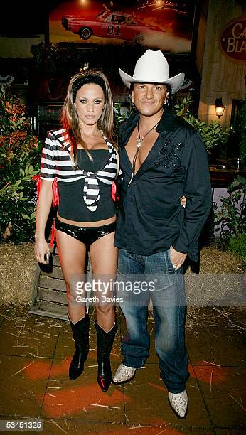 Jordan and Peter Andre attend the after party for the UK Premiere of 'The Dukes Of Hazzard' at the Texas Embassy Cantina on August 22 2005 in London...