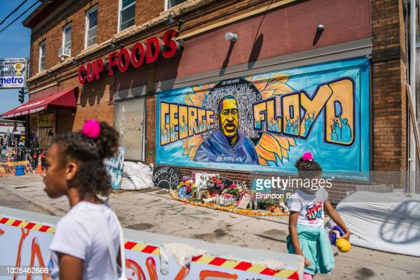 Jordan and Royal Pacheco learn of George Floyd's murder at the intersection of 38th Street and Chicago Avenue, ahead of former Minneapolis police...