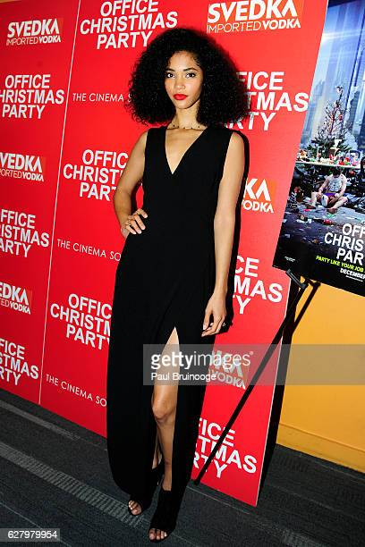"Jordan Andrews attends the Paramount Pictures with Paramount Pictures with The Cinema Society & Svedka Host a Screening of ""Office Christmas Party""..."