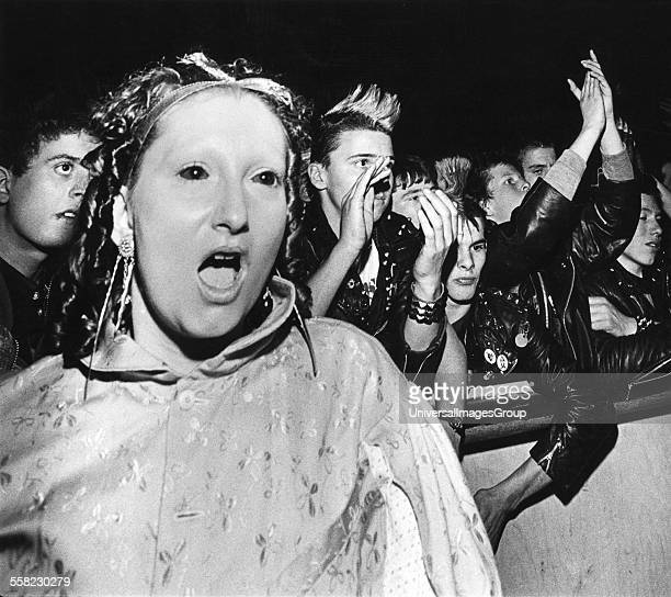 Jordan Ant People wearing facepaint with no eybrows Adam the Ants gig crowd UK 1980's