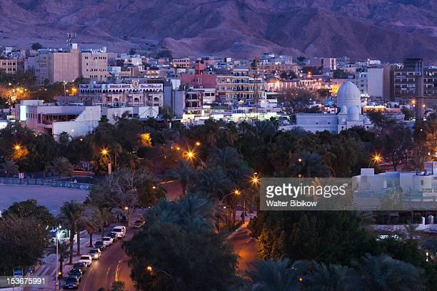 Jordan, Aqaba, elevated city view