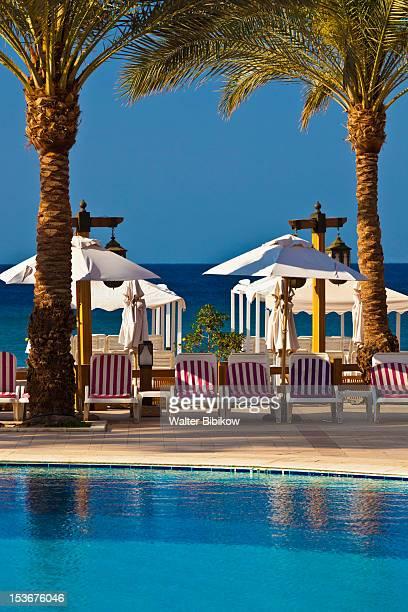 Jordan, Aqaba, Red Sea Beach, hotel swimming pool