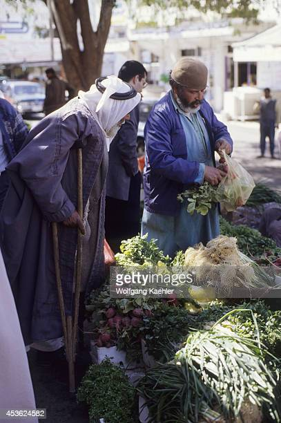 Jordan Aqaba Street Scene Small Market Produce For Sale