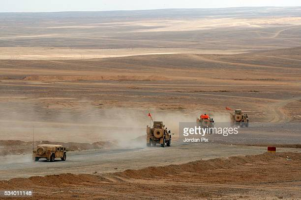 Jordan Armed Forces US Army and US Marine Corps forces conduct a combined Arms Live Fire Exercise that practices the synchronization of tactical...
