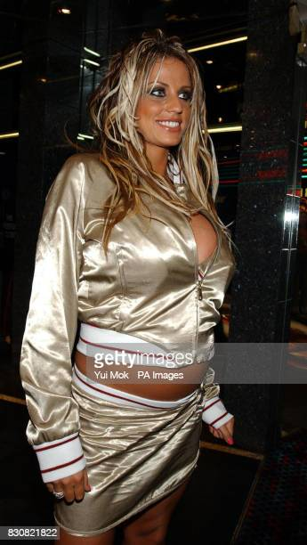 Jordan arriving at the Empire Cinema in London's Leicester Square for the premiere of Ali G InDaHouse