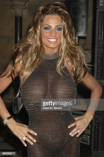 Jordan attends Andy and Patti Wongs Chinese New Year Party at the Royal Courts Of Justice on January 28 2006 in London England The dress code for the...