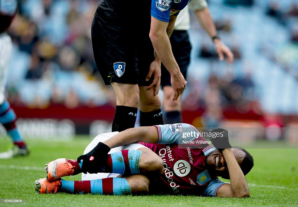 Jordan Ayew of Aston Villa during the Barclays Premier League match between Aston Villa and A.F.C. Bournemouth at Villa Park on April 09, 2016 in Birmingham, England.