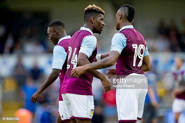 Jordan Ayew of Aston Villa scores for Aston Villa during the PreSeason Friendly match between Bristol Rovers and Aston Villa at the Memorial Stadium...