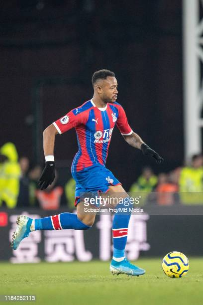 Jordan Ayew of Crystal Palace control ball during the Premier League match between Crystal Palace and Liverpool FC at Selhurst Park on November 23...