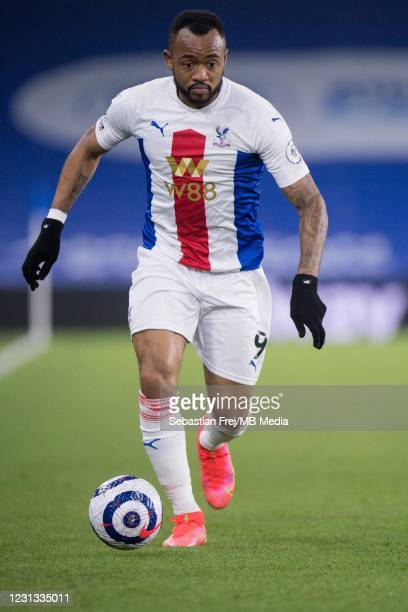 Jordan Ayew of Crystal Palace during the Premier League match between Brighton & Hove Albion and Crystal Palace at American Express Community Stadium...