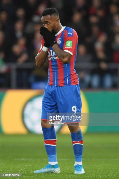 Jordan Ayew of Crystal Palace reacts after a missed chance during the Premier League match between Crystal Palace and Liverpool FC at Selhurst Park...
