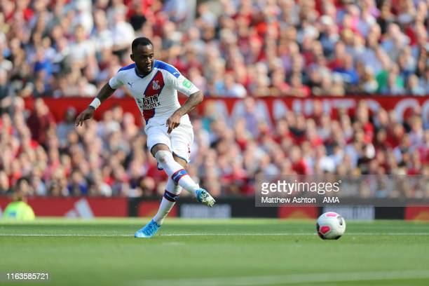 Jordan Ayew of Crystal Palace scores a goal to make it 01 during the Premier League match between Manchester United and Crystal Palace at Old...