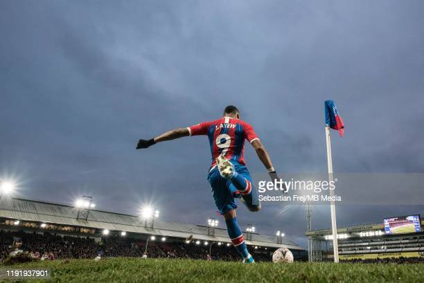 Jordan Ayew of Crystal Palace take corner kick during the FA Cup Third Round match between between Crystal Palace and Derby County at Selhurst Park...