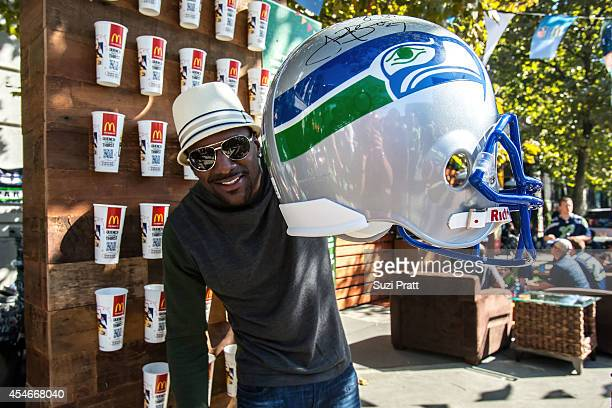 Jordan Babineaux former Seahawks safety and NFL network analyst enjoys McDonalds' on September 4 2014 in Seattle Washington