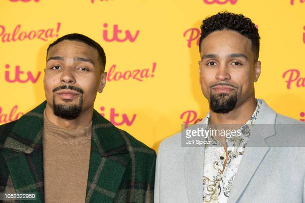 Jordan Banjo and Ashley Banjo attend the ITV Palooza held at The Royal Festival Hall on October 16 2018 in London England