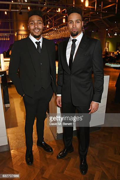 Jordan Banjo and Ashley Banjo attend the National Television Awards cocktail reception at The O2 Arena on January 25 2017 in London England