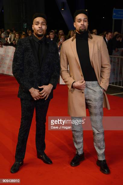 Jordan Banjo and Ashley Banjo attend the National Television Awards 2018 at The O2 Arena on January 23 2018 in London England