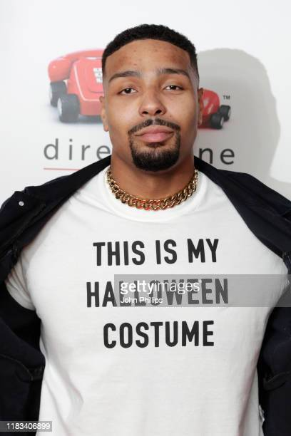 Jordan Banjo attends the KISS Haunted House Party 2019 at The SSE Arena Wembley on October 25 2019 in London England