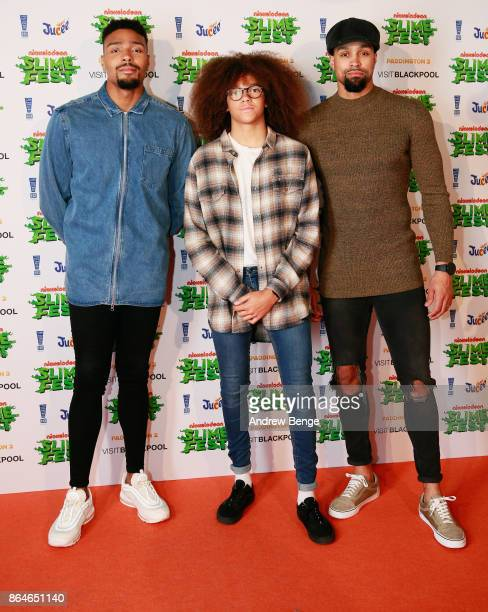 Jordan Banjo Perri Kiely and Ashley Banjo attend Nickelodeons SLIMEFEST Highlights from the slimefilled event will air on Nickelodeon on Friday 3rd...