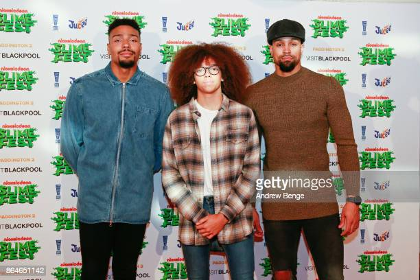 Jordan Banjo Perri Kiely and Ashley Banjo attends at Nickelodeons SLIMEFEST on October 21 2017 in Blackpool England Highlights from the slimefilled...